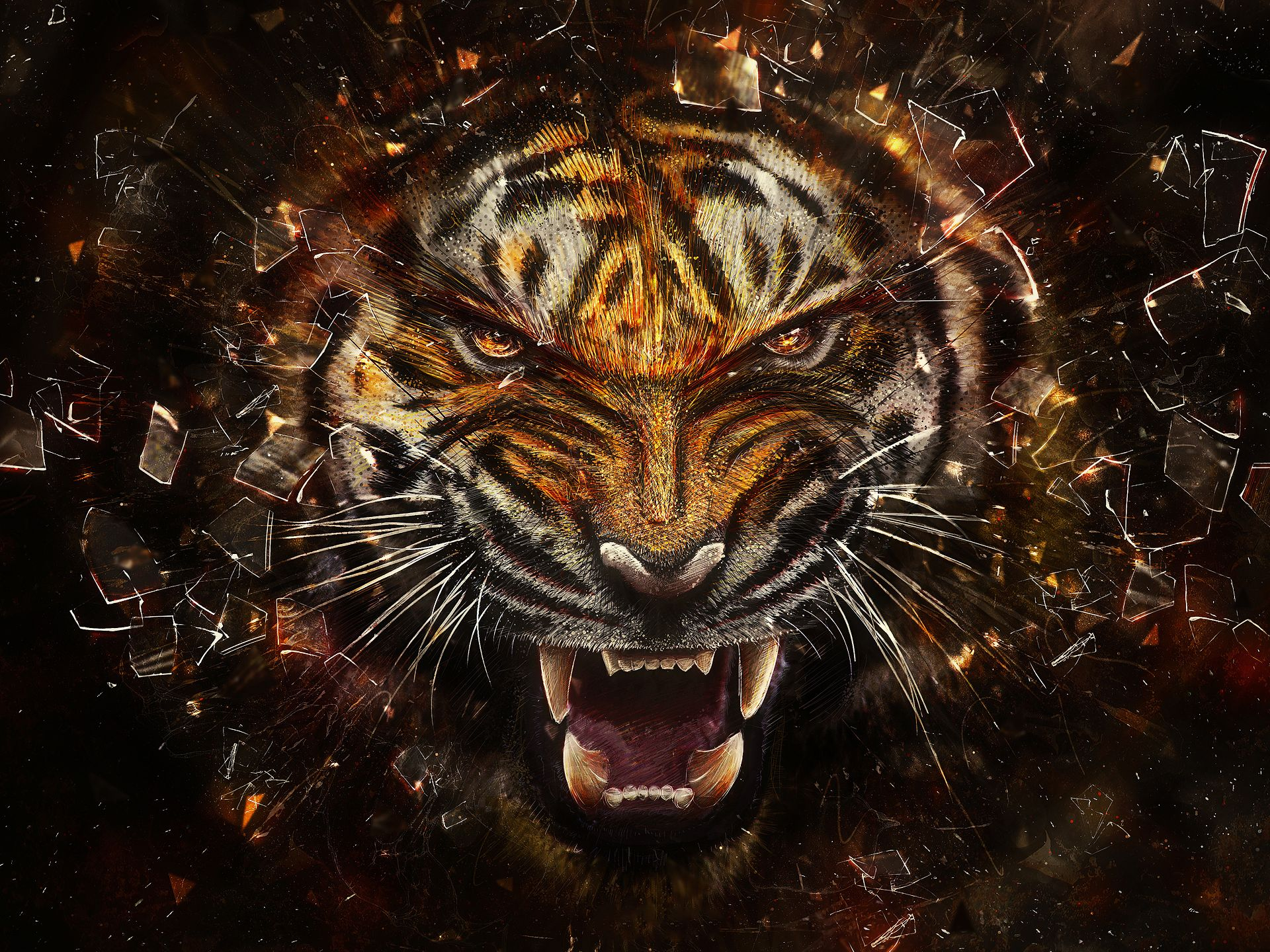 Free Download High quality tiger 3D Animals Wallpaper Num ...