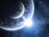 rise sun / 3d Space