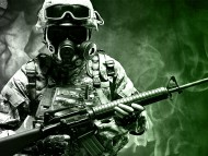 Download green fire, soldiers in uniform, armed / Character