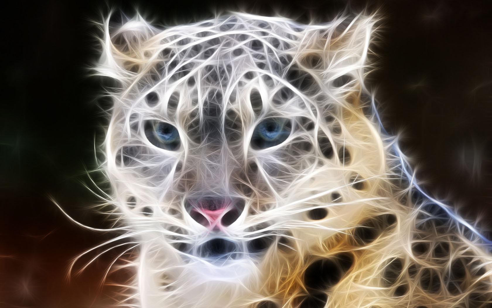 Digital Leopard Art Wallpapers: Free Download High Quality Digital Animals Wallpaper Num