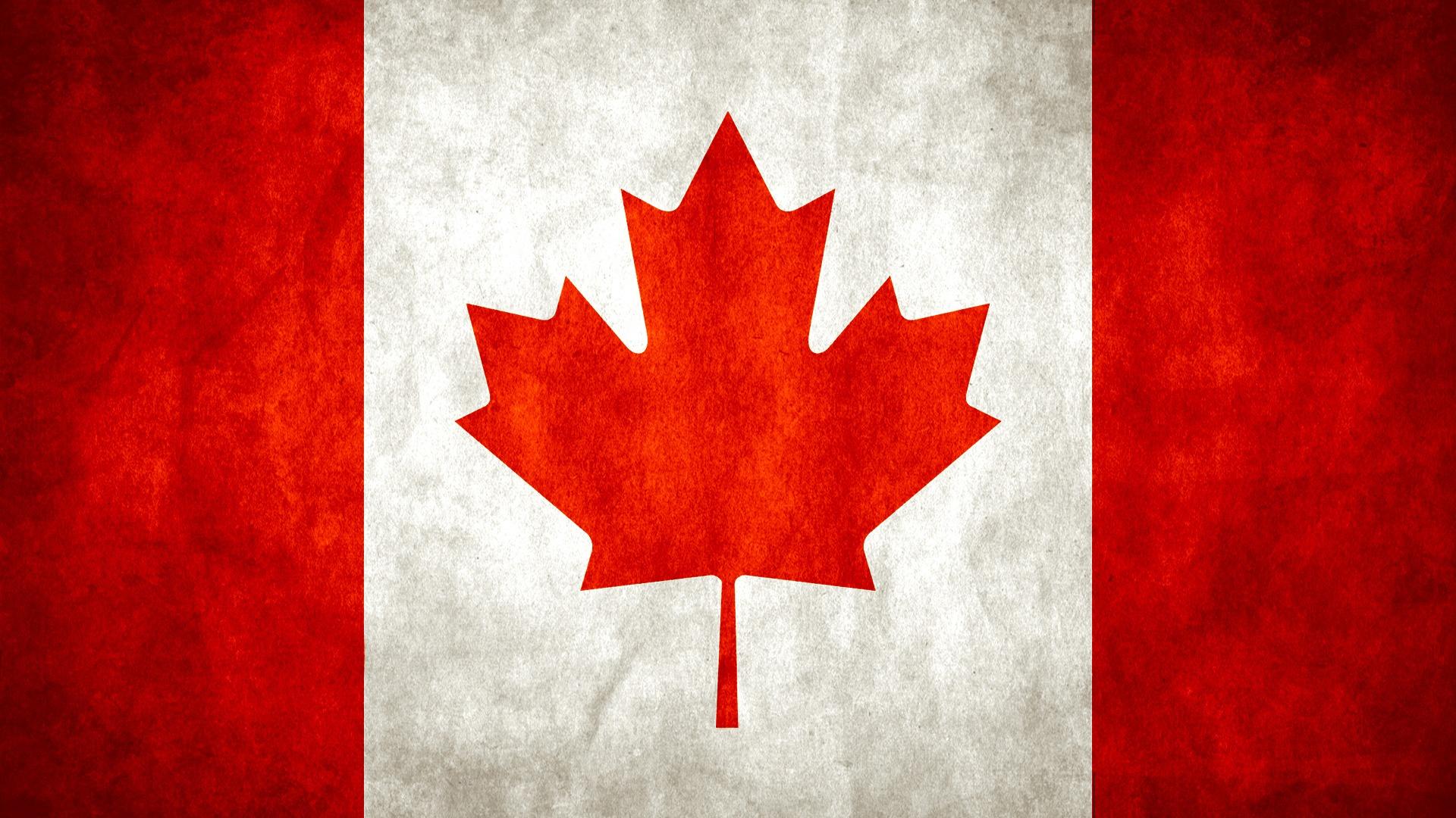 Download full size Canadian Flag Digital Art wallpaper / 1920x1080