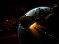 destroy asteroid / Science Fiction (Sci-fi)