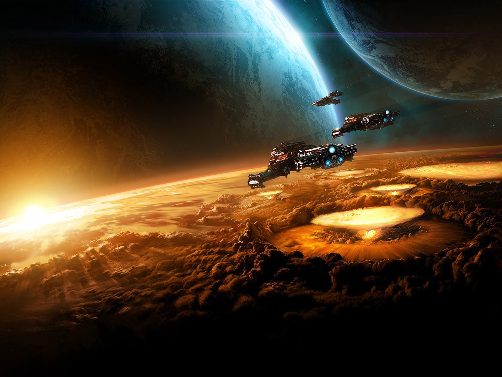 ... full size sun rise Science Fiction (Sci-fi) wallpaper / 1600x1200