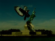 conflict, Freedom statue, Statue, USA, Wallpaper / Science Fiction (Sci-fi)
