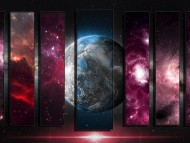 Nebula Earth Panels put together / Science Fiction (Sci-fi)