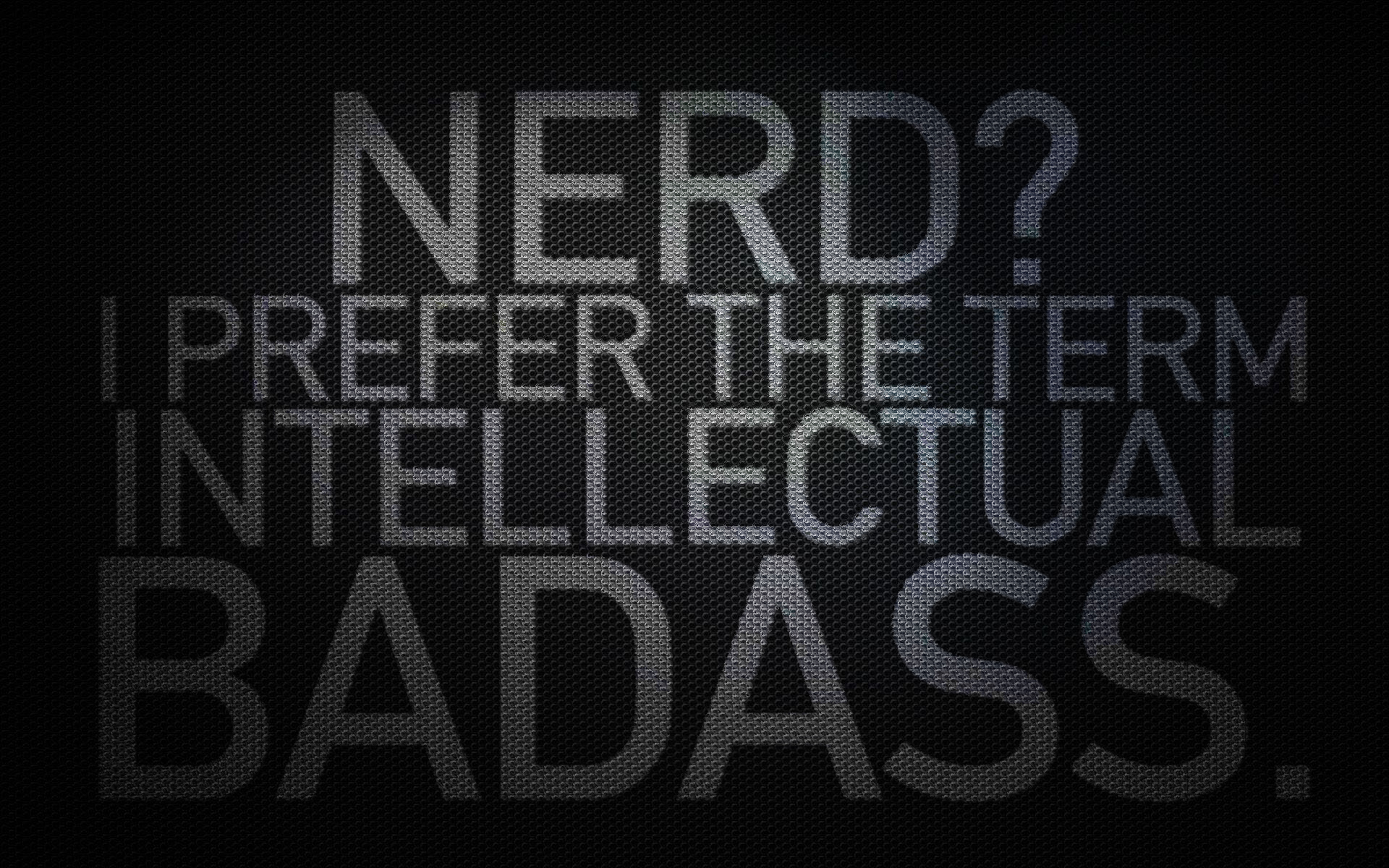 Download HQ nerd, carbon fibre, badass, black Surfaces wallpaper / 1920x1200