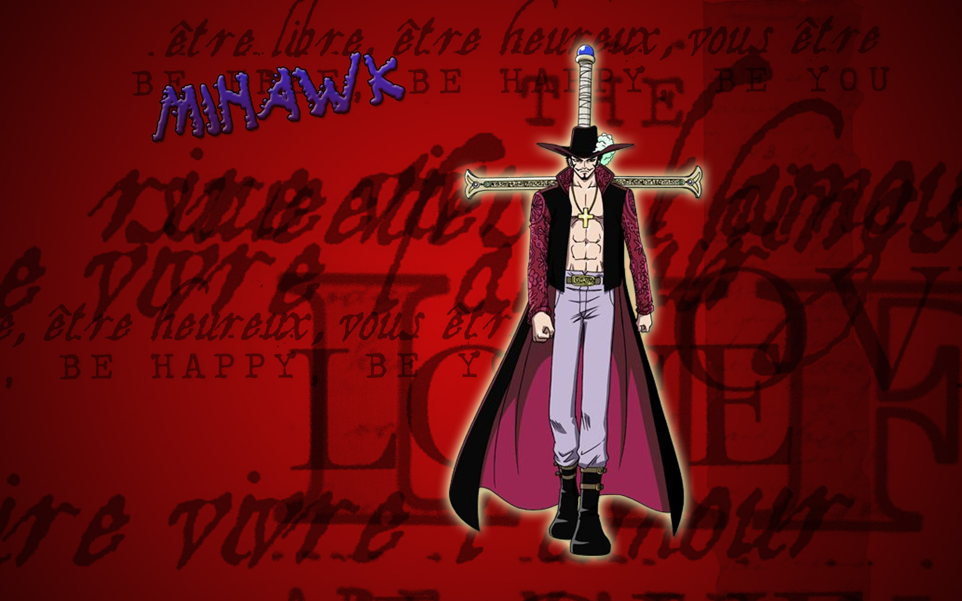 Download HQ mihawk One piece wallpaper / 1920x1200