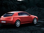 Red Brera rear / Alfa Romeo