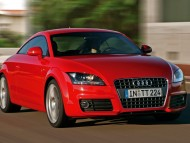 TT red coupe front / Audi