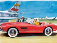 507 red drawing / Bmw