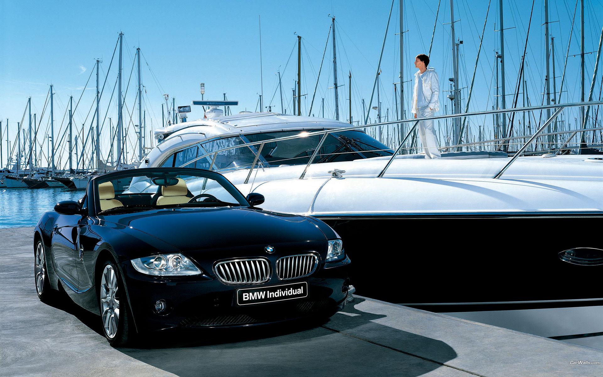 Free Download Hq Z4 Cabriolet Black Yacht Bmw Wallpaper