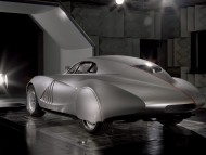 Mille Miglia futuristic retro style prototype back / Bmw