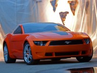 Download Orange Mustang front / Ford