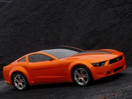 Orange Mustang side / Ford
