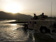 Humvee And Sunset / Hummer