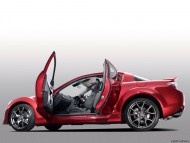 red rx-8 side open doors / Mazda
