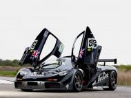 black front doors opens up / McLaren