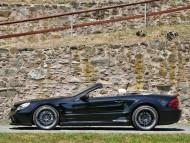 SL 63 side black cabriolet Inden Design / Mercedes