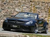 SL 63 front black cabriolet Inden Design / Mercedes