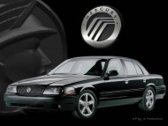 front black sedan / Mercury Marauder