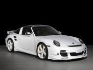 white coupe / Porshe