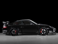 GT street TechArt black coupe side / Porshe