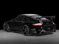 GT street TechArt black coupe side / Porshe