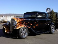 flame / Retro Cars