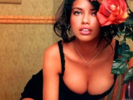 red rose / Adriana Lima