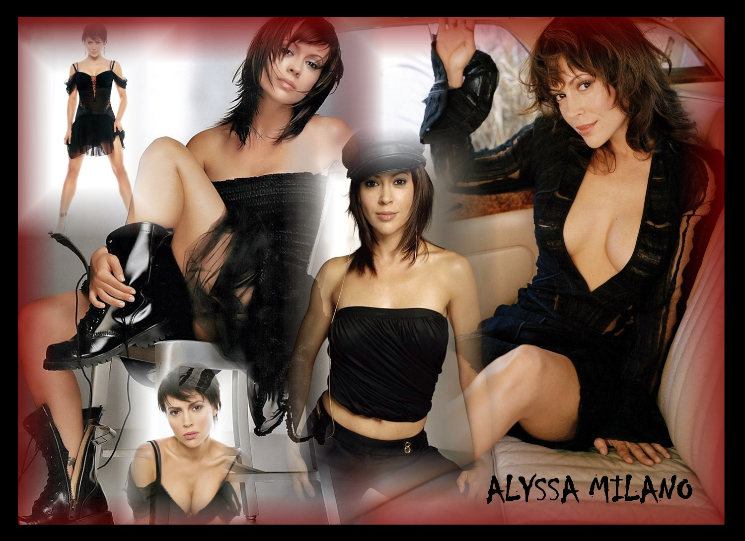 alyssa milano wallpaper female