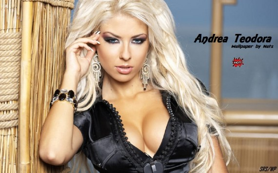 ... to Mobile Phone Andrea Teodora Celebrities Female wallpaper num.24