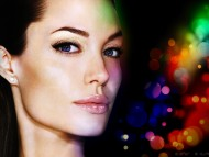 face, colorfull / Angelina Jolie