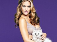 Lingerie and cat / Bar Refaeli