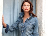 Blue jacket / Bianca Balti