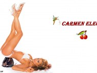 bottom on helmet / Carmen Electra