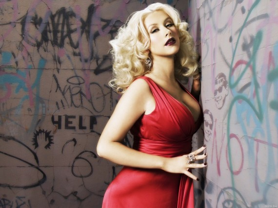 Free Send to Mobile Phone Christina Aguilera Celebrities Female wallpaper num.235