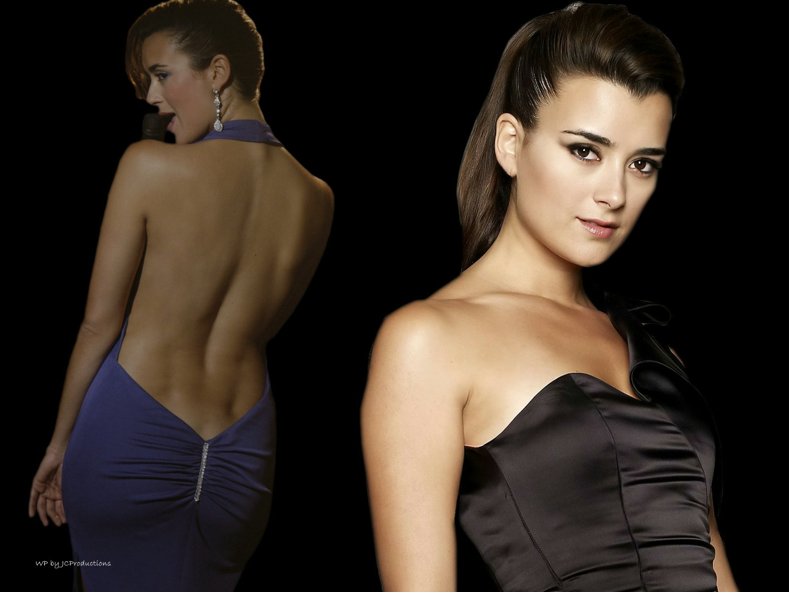 Download HQ NCIS, Ziva David, Blue Dress, Bare Back Cote de Pablo wallpaper