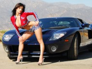 black car / Denise Milani