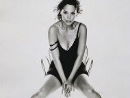 black & white / Elizabeth Berkley