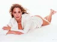 only white jacket / Elizabeth Berkley