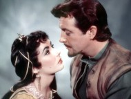 Elizabeth Taylor and Robert Taylor in