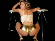 gold shorts / Keeley Hazell