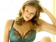 green lingerie / Keeley Hazell