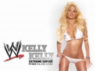 sexy pose white lingerie / Kelly Kelly