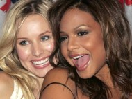 With Christina Milian / Kristen Bell