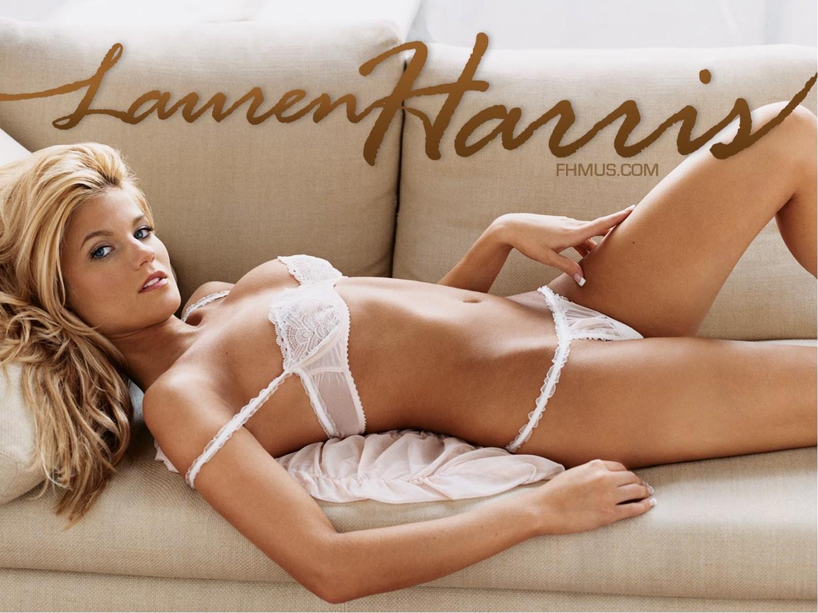 Download HQ white lingerie Lauren Harris wallpaper / 1600x1200
