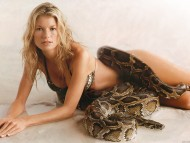 With Boa, snake / Marisa Miller
