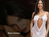 white transparent dress / Mayra Veronica