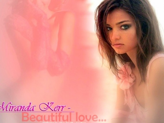 Free Send to Mobile Phone Beautiful love Miranda Kerr wallpaper num.8