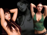 green top / Monica Bellucci